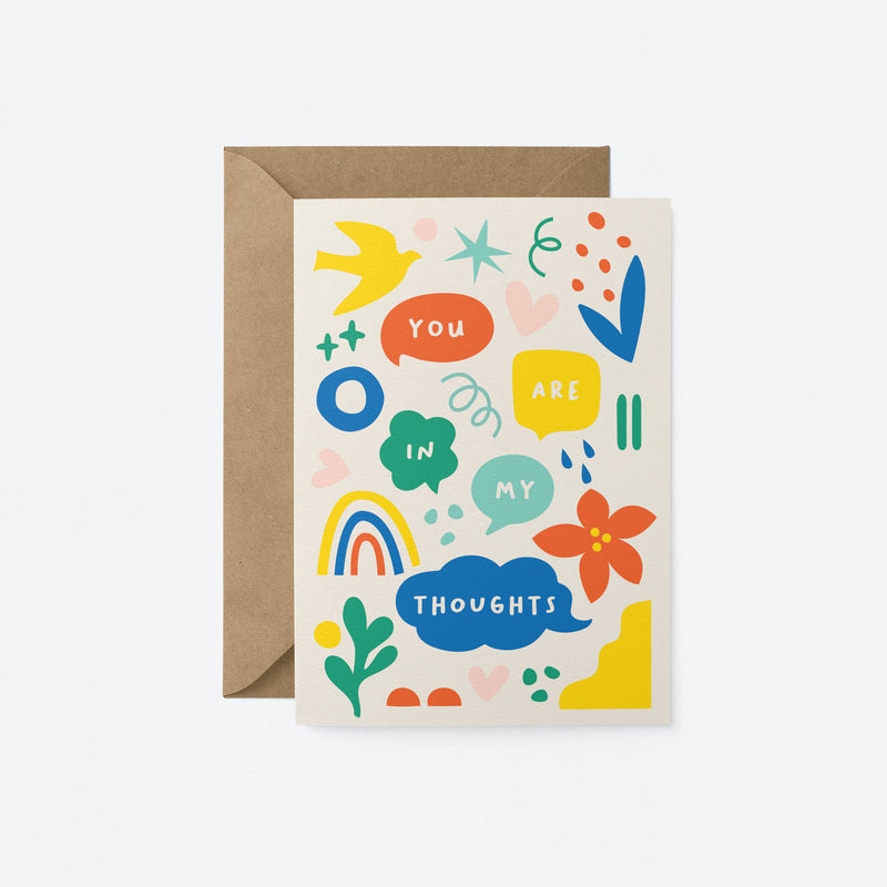 You are in my thoughts Greeting Card by Graphic Factory