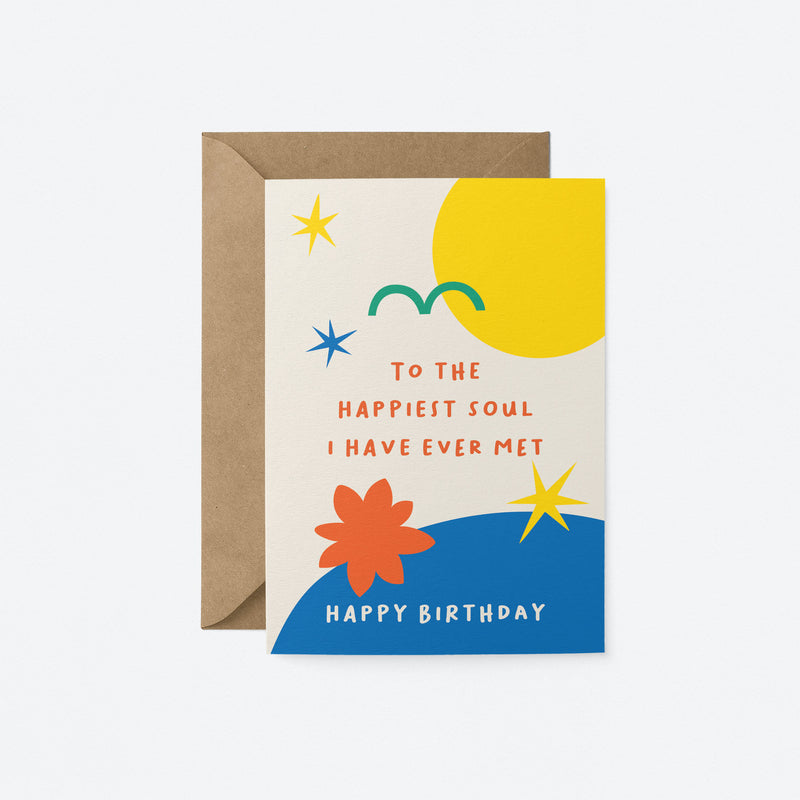 Happiest soul Greeting Card by Graphic Factory