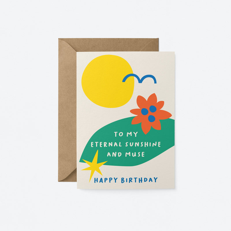 Sunshine and muse Greeting Card by Graphic Factory