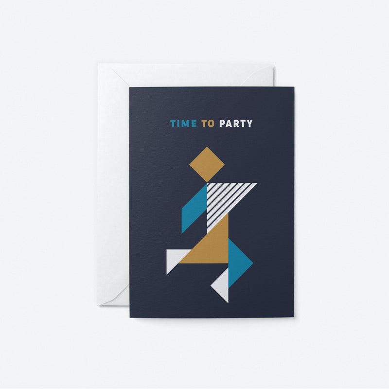 Time to Party Greeting Card by Graphic Factory