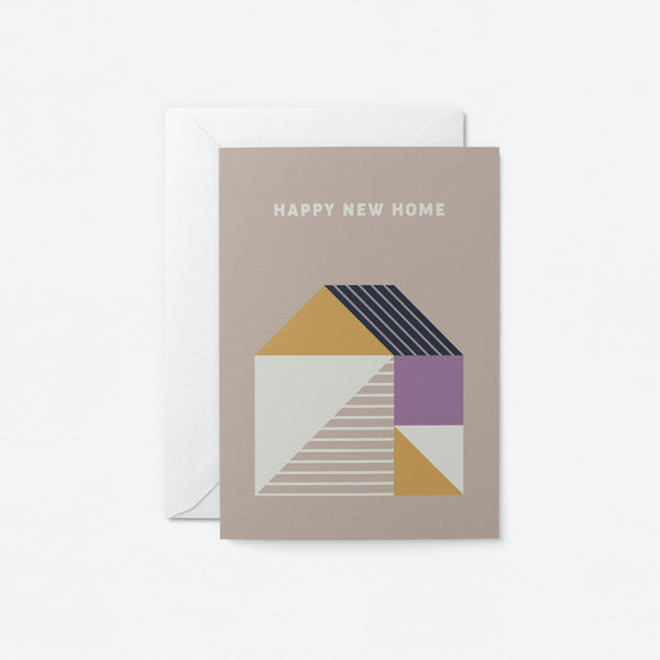 Happy New Home Greeting Card by Graphic Factory