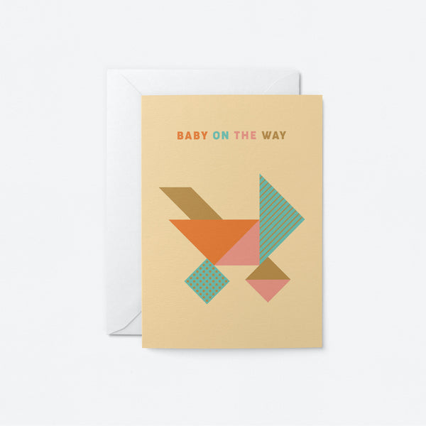 Baby on the way Greeting Card by Graphic Factory