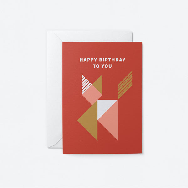 Happy Birthday to you Greeting Card by Graphic Factory