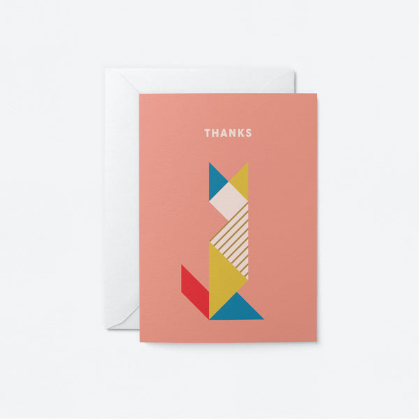 Thanks Greeting Card by Graphic Factory