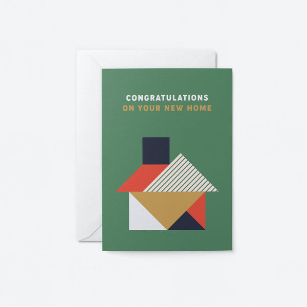 Congratulations on your new home Greeting Card by Graphic Factory