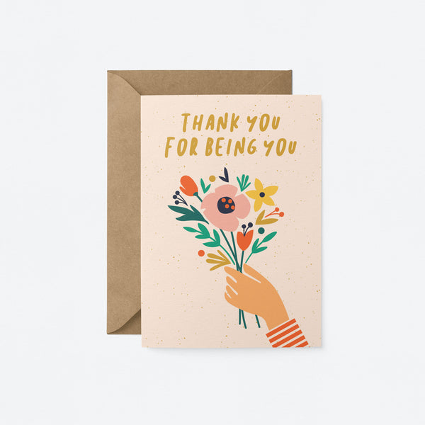 Thank you for being you Greeting Card by Graphic Factory