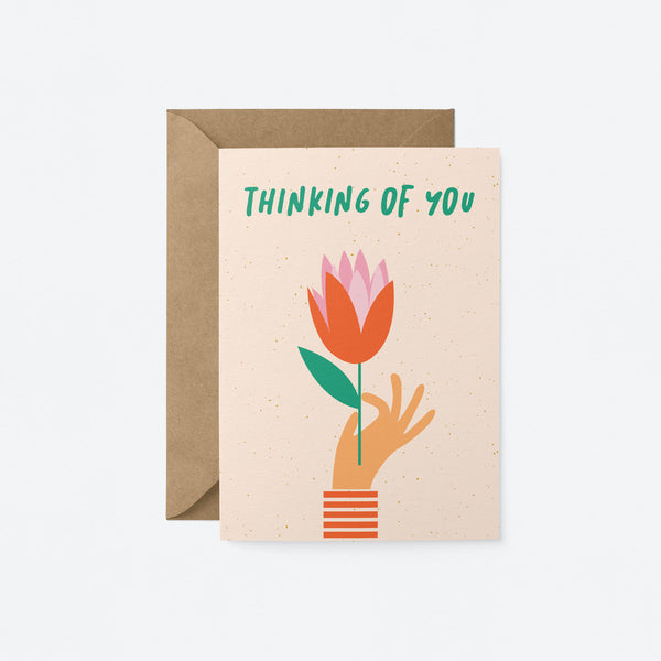 Thinking of you Greeting Card by Graphic Factory