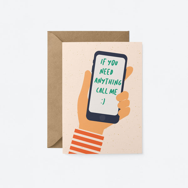 Call me! Greeting Card by Graphic Factory