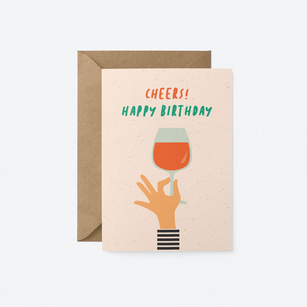 Cheers! Happy Birthday Greeting Card by Graphic Factory