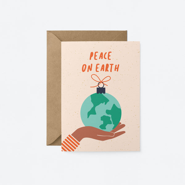 Peace on Earth Greeting Card by Graphic Factory