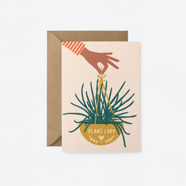Plant lady Greeting Card by Graphic Factory
