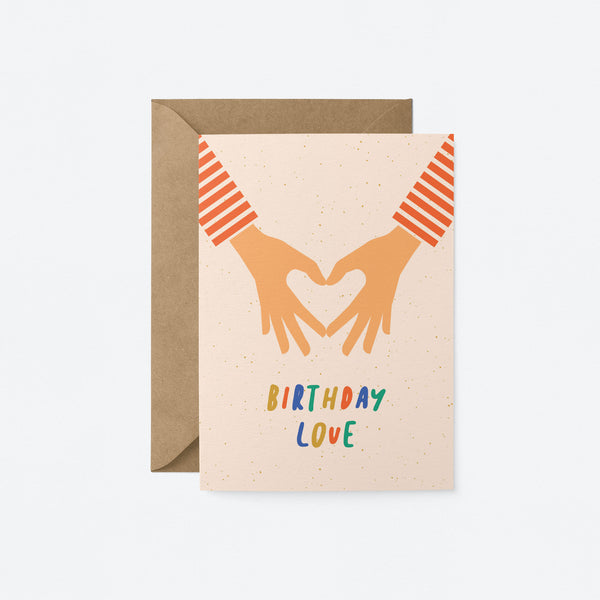 Birthday love Greeting Card by Graphic Factory