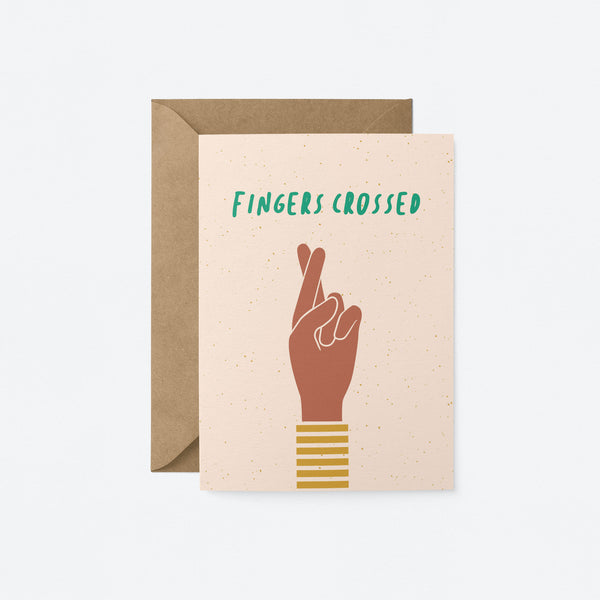 Fingers crossed Greeting Card by Graphic Factory