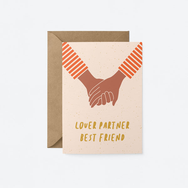 Lover partner best friend Greeting Card by Graphic Factory