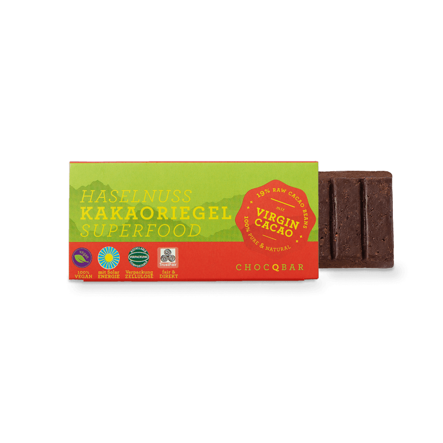 CHOCQBAR organic cocoa bar hazelnut