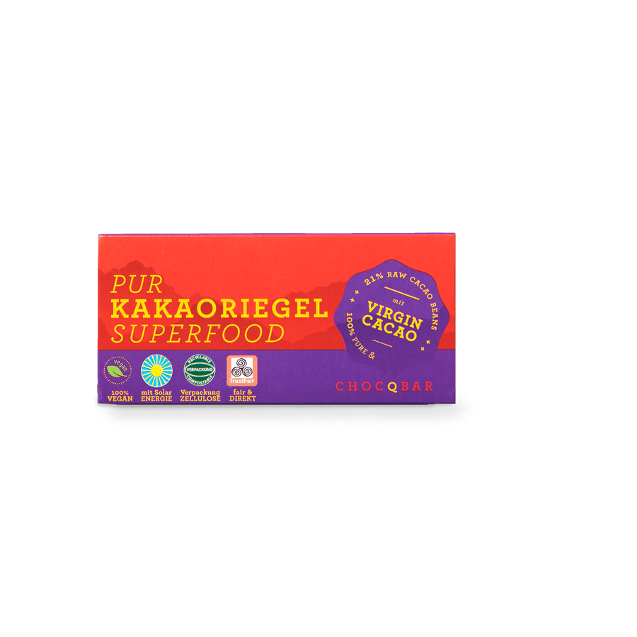 CHOCQBAR Organic Cocoa Bar Pure