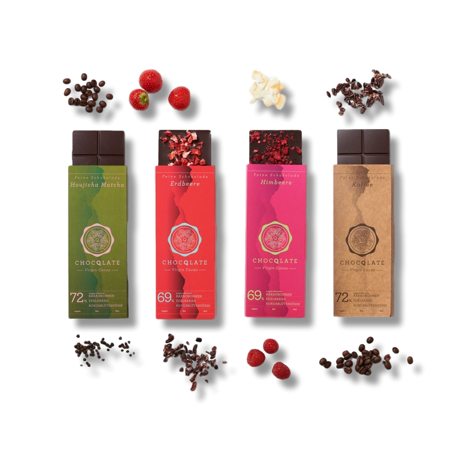 Chocolate Set N ° 17 Matcha - Strawberry - Raspberry - Coffee