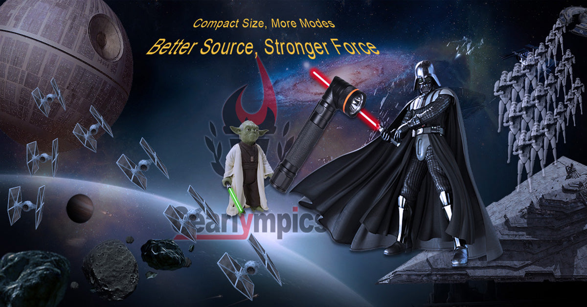 Star Wars and Gearlympics Flashlight
