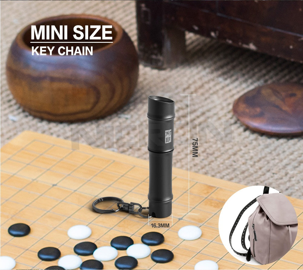 Size of K15 Mini Keychain Flashlight K15