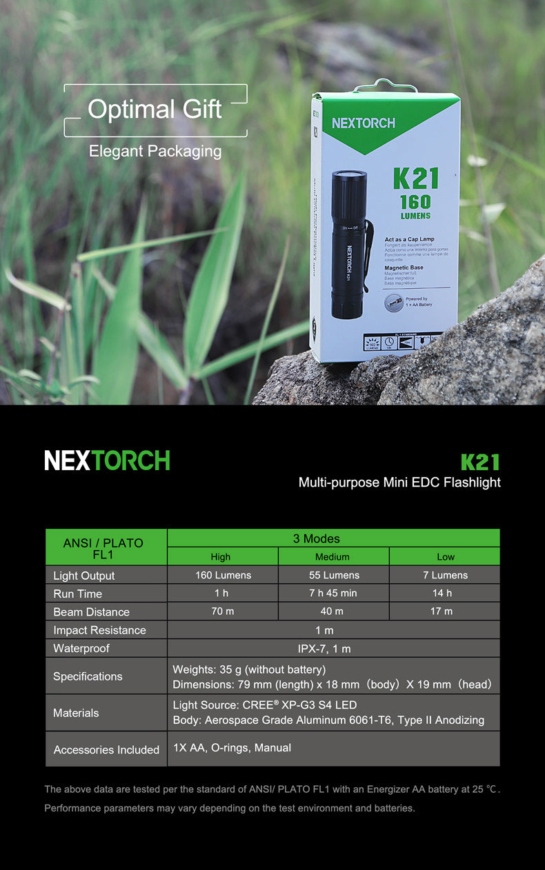 NexTorch Mini Pocket Led Flashlight K21