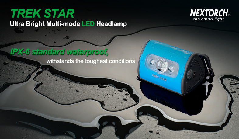 NEXTORCH Led Headlamp with White and Red Light TRAK STAR