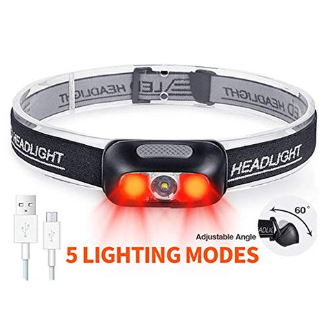 Rechargeable Headlamp COSMOING 500 Lumen Ultra Bright Headlamp