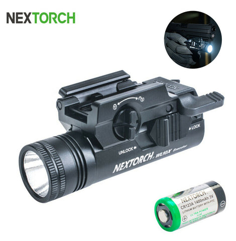 NEXTORCH Hunting Compact Pistol Light LED Flashlight Gun Lights With battery