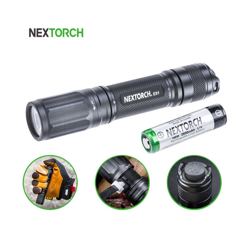 NEXTORCH® High Lumen Strobe Rechargeable Led Flashlight E51