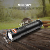 NICRON 5W Compact USB Rechargeable Flashlight 300LM 170M Beam Distance Waterproof IPX4 Home Torch Lamp N62 For Househole Riding