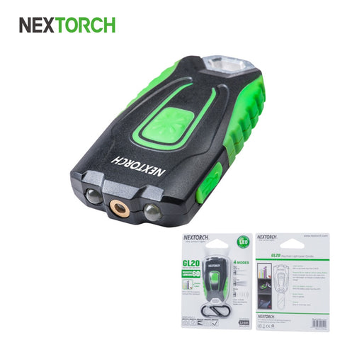 NEXTORCH Keychain Light 60Lm LED Portable Pocket Lantern Outdoor Rechargeable Torch Visible Laser Pointer Free Shipping GL20