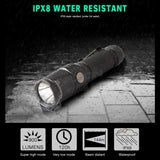 NICRON Mini 9W Super Brightness Portable Flashlight Light Waterproof IPX8 5200cd 900LM LED USB Rechargeable Torch Lantern B62
