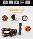 Nicron H10R LED Rechargeable Headlamp