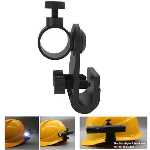 Weltool Helmet Flashlight Holder Light Weight Mount Side Clip For 3M MSA V-GARD
