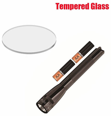 Weltool Flashlight Lens Upgrade Tempered Glass For AA Mini MAGLITE PRO LED 22mm