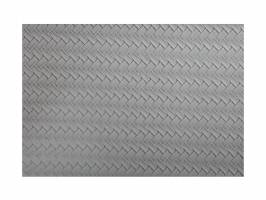 PLACEMAT - LEATHER LOOK GREY PLAIT