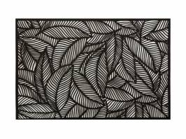PLACEMAT - CUTOUT LEAF BLACK