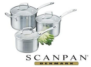 SCAN PAN Impact Saucepans 3pc