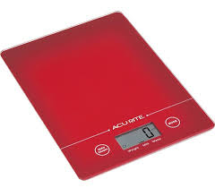 ACURITE Digital Kitchen Scales-RED