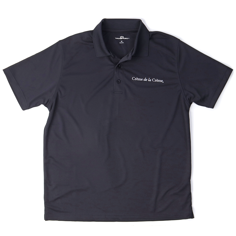 Mens Solid Mesh Tech Polo - NAVY