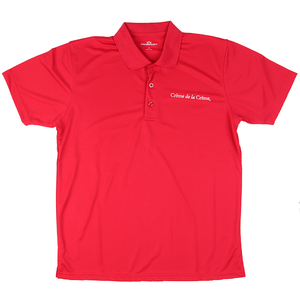 Mens Solid Mesh Tech Polo - RED