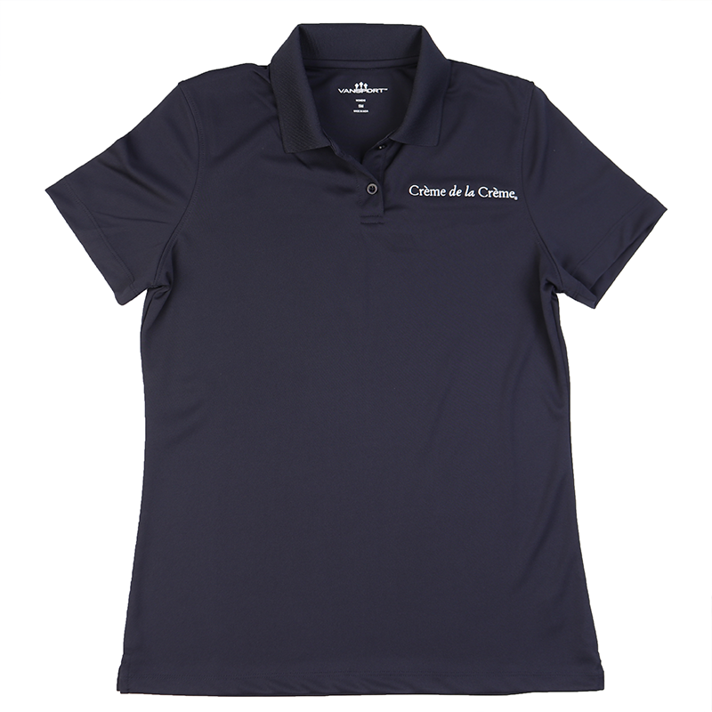 Ladies Solid Mesh Tech Polo - NAVY