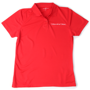 Ladies Solid Mesh Tech Polo - RED