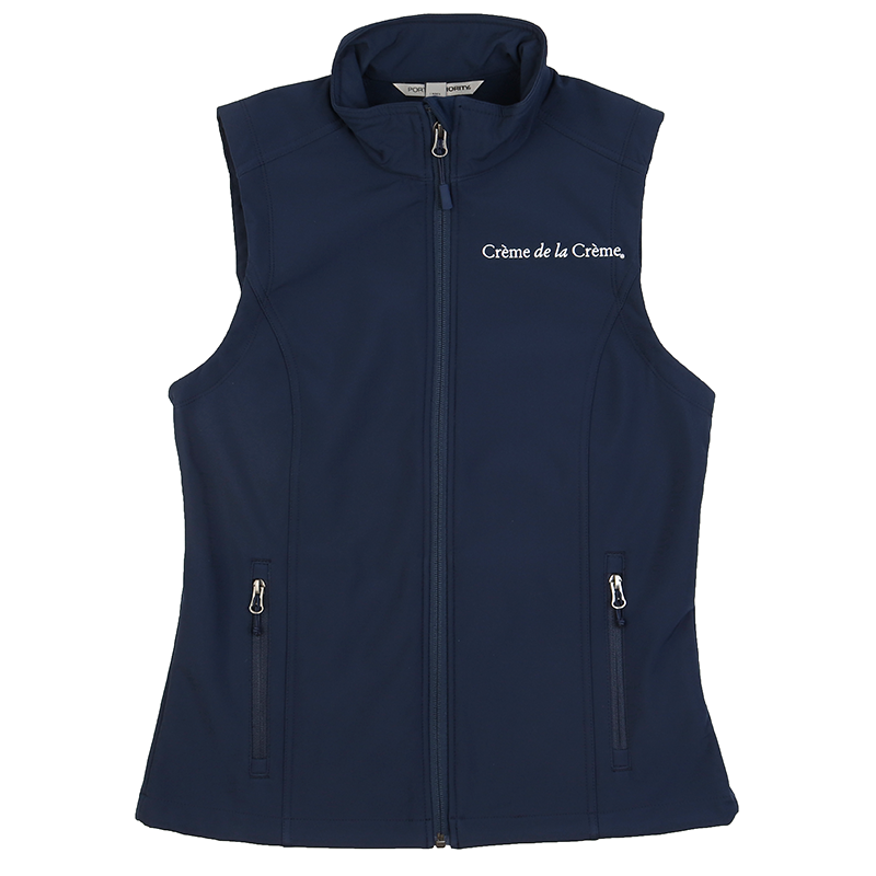 Ladies Core Soft Shell Vest - NAVY