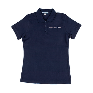 Ladies Short Sleeve Cotton Polo - NAVY