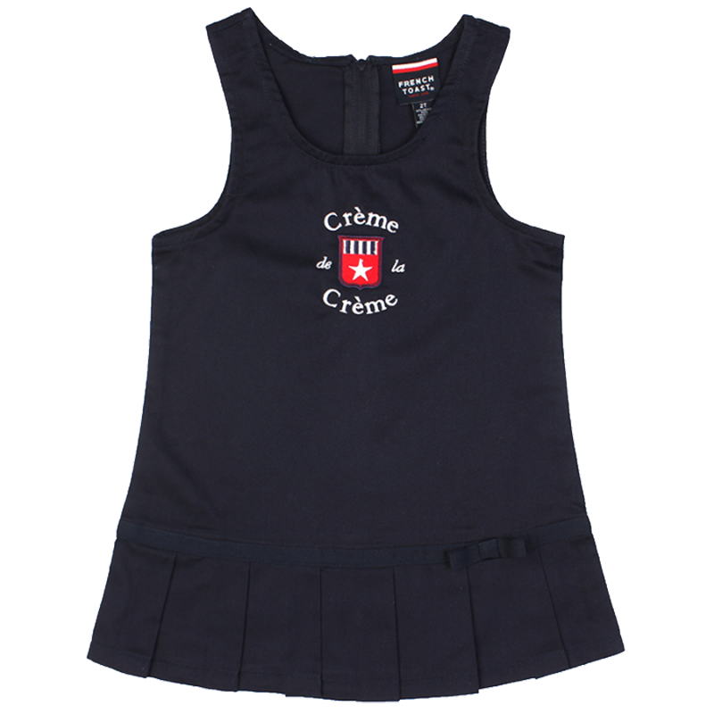 GIRL'S PLEATED HEM JUMPER - NAVY