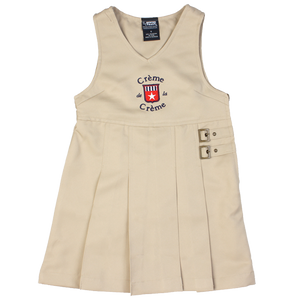 GIRL'S TWIN BUCKLE TAB JUMPER - KHAKI