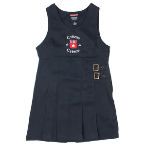 GIRL'S TWIN BUCKLE TAB JUMPER - NAVY