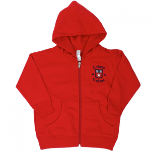 TODDLER ZIP FLEECE HOODIE - RED