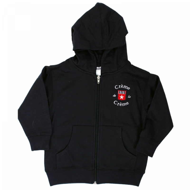 TODDLER ZIP FLEECE HOODIE - NAVY