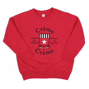TODDLER CREW SWEATSHIRT - RED